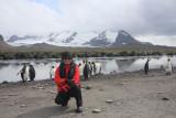 Lisa, Grace Glacier behind