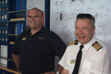 Jannie Cloette, Cruise Director, and Captain John Moulds