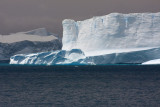 Tabular iceberg outside the fjord