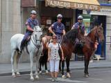 Lisa interacting -- again -- with la policia