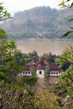 National Museum & Mekong River from Mount Phousi