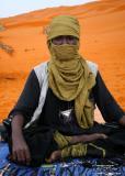 Tuareg tribesman by the lake