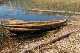 Uros totora canoe