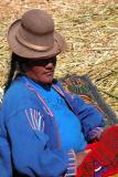 Uros woman resting