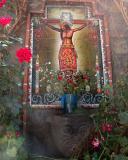 San Blas artisan's courtyard