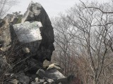 Profile Rock, Freetown-Fall River State Forest, MA. Legend holds that this is the great war chief Anawon.