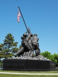 3/4 scale Iwo Jima Memorial at Bicentennial Park, Fall River MA. This began its life as the prototype for the real Memorial.