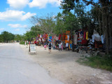 Vendors on the road to Tulum, Mexico