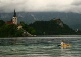 Kayaking in Bled