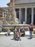 In front of the Pantheon, once a Pagan Temple before the advent of Christianity.