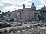 At the Roman Forum, the center of ancient Rome, with the remains of the Agora (bazaar).
