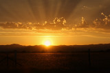 Sun Setting over Table Rocks