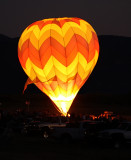Light show at Balloon Rally
