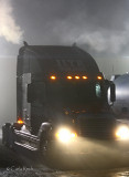 Foggy Evening.....Truck looks like a Fog breathing Dragon