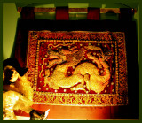 Chinese Dragon Wall hanging and Soiled Dove (doll)
