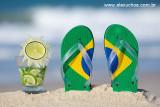 caipirinha de limão com chinelinho com cores do Brasil -  8891