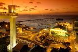Crepúsculo na bahia de todos os santos, Salvador, Bahia