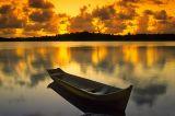 Pôr-do-sol na Lagoa do Cassange, Península de Maraú, Bahia
