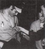 Elvis, Paul Peek and Gene Vincent - October 1956