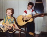 My nephews Jesse and Jacob around 1989 with my  Yamaha FG512 12 -string and Winston electric