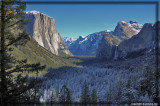 Tunnel View provides a fresh look of early winter season