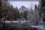Half Dome from Sentinal Bridge over the Merced River