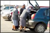 Three nuns at the Punta Arenas airport