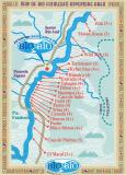 River Map with all the major rapids and the class levels.