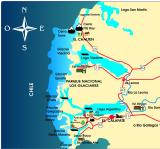 Map of Parque Nacional Los Glaciares