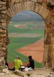 Lunch Under The Arabic Arch - Gormaz Fortress