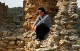 Posing in the Castle of Calatañazor