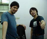 Proud cooks, Hiyoshi and Long Yan