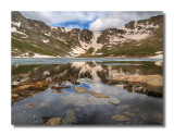 Partially Frozen Summit Lake