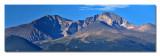 Panorama of Meeker and Longs Peaks