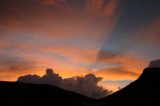Sunset over Living Waters Ranch, Challis