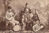 4Person Band-Joe on Violin, Probably Church with banjo.jpg
