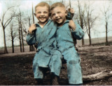 Gene & Jack Brandt in Ash's back yard circa 1933 .jpg