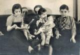 Joe & Ethel Ash & Grandkids Ann, Jo & Jimmy.jpg