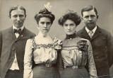 (L to R) John Hoblit, Byrdie Mountjoy Ash, Jenny Mountjoy Hoblit, Joe Ash (1890's).jpg