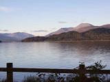 Sunset on Ben Lomond from Net Bay, Loch Lomond NNR
