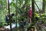 Lunch break en route to the camp, Cao Grande, São Tomé
