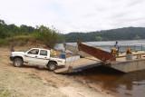 The ferry, Ogoué River, Gabon