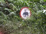 Road sign, Ipassa Research Station, Gabon