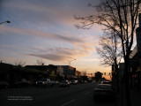 Hastings Street in the evening, Burnaby Heights
