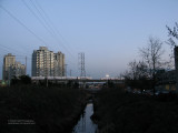 Still Creek with two Skytrains