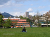 Sunny day at Waterfront Park, North Vancouver