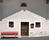 Church at high noon,  Italian Alps