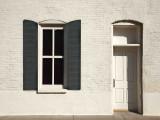 Occidental building doorway and window