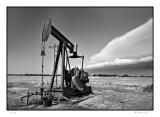 Oil rig,  Smokey Hills area, KS