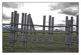 Fence , Mormon homestead, Yellowstone N.P.